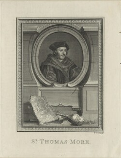 Sir Thomas More, by Thomas Cook, after  Hans Holbein the Younger, probably late 18th-early 19th century - NPG D24309 - © National Portrait Gallery, London