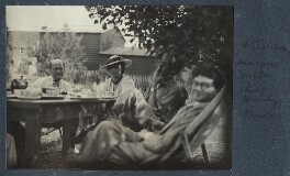 Helmut Ruhemann; Marjorie Gertler (née Hodgkinson, later Kostenz); Sir Philip Hendy; Mark Gertler, by Lady Ottoline Morrell - NPG Ax143572