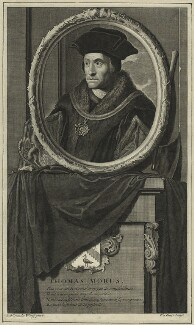 Sir Thomas More, by Pieter Stevens van Gunst, after  Adriaen van der Werff - NPG D24313