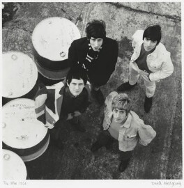 The Who (Pete Townshend; Keith Moon; Roger Daltrey; John Entwistle), by David Wedgbury, 1965 - NPG x47360 - © National Portrait Gallery, London