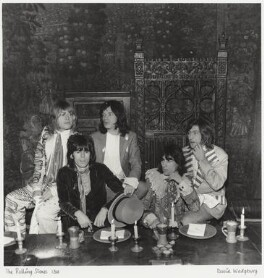 The Rolling Stones (Brian Jones; Keith Richards; Mick Jagger; Bill Wyman; Charlie Watts), by David Wedgbury - NPG x47358