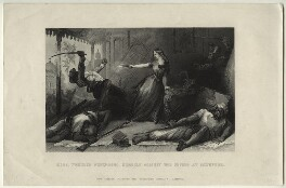 Margaret Wheeler ('Miss Wheeler defending herself against the Sepoys at Cawnpore'), published by London Printing and Publishing Company Limited - NPG D31712