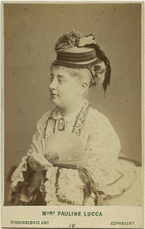 Pauline Lucca, by London Stereoscopic & Photographic Company - NPG x36272