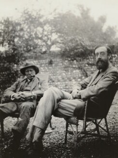 Clive Bell; Lytton Strachey, by Vanessa Bell - NPG x13073