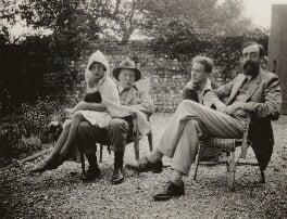 Angelica Garnett; Clive Bell; Stephen Tomlin; Lytton Strachey, by Vanessa Bell - NPG x13136