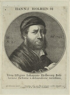 Hans Holbein the Younger, by Wenceslaus Hollar, published by  Joachim Ottens, and published by  Frederick de Wit, after  Hans Holbein the Younger - NPG D24343