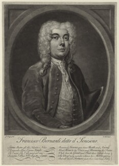 Francesco Bernardi ('Senesino'), by Elisha Kirkall, after  Joseph Goupy - NPG D31719
