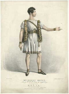 Henry Thomas Betty as Rollo in 'Pizarro', by George Edward Madeley, published by  Joseph Onwhyn, after  F. Onwhyn - NPG D31734