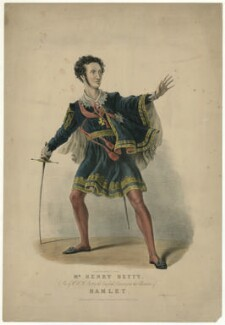 Henry Thomas Betty as Hamlet, by F. Onwhyn, printed by  Day & Haghe, published by  Joseph Onwhyn - NPG D31736