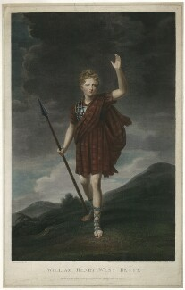William Henry West Betty as Young Norval in 'Douglas', by James Heath, after  John Opie - NPG D31737