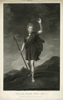 William Henry West Betty as Young Norval in 'Douglas', by James Heath, after  John Opie - NPG D31738