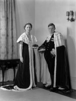 Quintin McGarel Hogg, 1st Baron Hailsham of St Marylebone; Mary Evelyn Hogg (née Martin), Viscountess Hailsham, by Navana Vandyk - NPG x130593