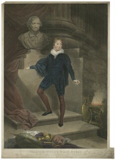 William Henry West Betty as Hamlet, by James Heath, after  James Northcote, published 1806 - NPG  - © National Portrait Gallery, London