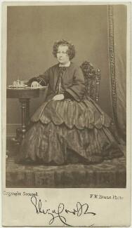 Eliza Cook, by Frederick William Evans - NPG x6367
