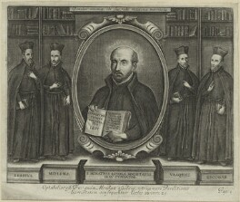 Ignatius Loyola and 4 Jesuit followers, after Unknown artist - NPG D24792