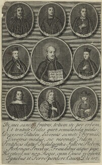 Ignatius Loyola and other religious figures, after Unknown artist - NPG D24795