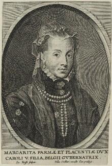 Margaret, Duchess of Parma, by Jacobus Neeffs (Neefs) - NPG D24799