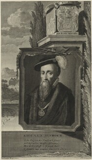 Edward Seymour, 1st Duke of Somerset, by Pieter Stevens van Gunst, after  Adriaen van der Werff - NPG D24813