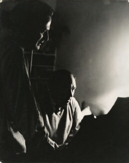 Yehudi Menuhin and Gerald Moore, by Georges Maiteny - NPG x36177