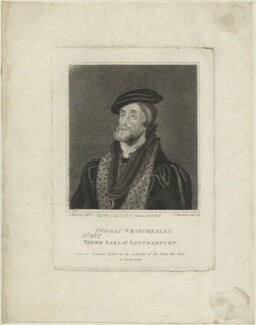 Thomas Wriothesley, 1st Earl of Southampton, by Edward Harding, published by  E. & S. Harding, after  Silvester (Sylvester) Harding - NPG D24827