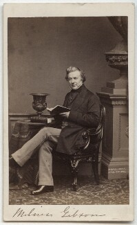 Thomas Milner Gibson, by John Jabez Edwin Mayall, 1862 - NPG x21355 - © National Portrait Gallery, London
