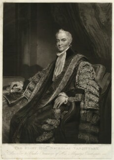 Nicholas Vansittart, Baron Bexley, by William Ward, after  William Owen - NPG D31751