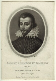 Unknown man engraved as Robert Cecil, 1st Earl of Salisbury, by Richard Earlom, published by  Samuel Woodburn - NPG D31752