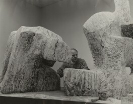 Henry Moore, by Unknown photographer - NPG x21395