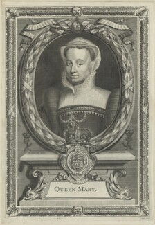 Fictitious portrait called Queen Mary I, by Peter Vanderbank (Vandrebanc), after  Edward Lutterell (Luttrell) - NPG D24875