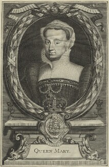 Fictitious portrait called Queen Mary I, by Peter Vanderbank (Vandrebanc), after  Edward Lutterell (Luttrell) - NPG D24879