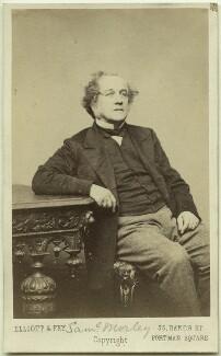 Samuel Morley, by Elliott & Fry - NPG Ax8569