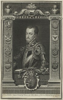 Philip II, King of Spain, by George Vertue, after  Titian - NPG D24881
