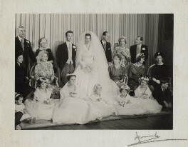 The wedding of David Hicks and Lady Pamela Mountbatten, by Madame Yevonde - NPG x34117