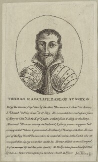 Thomas Radcliffe, 3rd Earl of Sussex, published by John Thane - NPG D24895