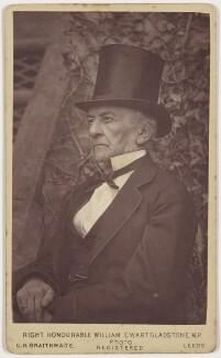William Ewart Gladstone, by Charles Henry Braithwaite - NPG x17039
