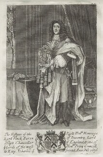 Heneage Finch, 1st Earl of Nottingham, by Unknown engraver, after  John Michael Wright - NPG D31716