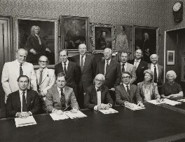 Trustees and Senior Staff of the National Portrait Gallery, by Conrad Hafenrichter, July 1984 - NPG x129560 - © National Portrait Gallery, London