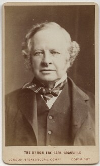 Granville George Leveson-Gower, 2nd Earl Granville, by London Stereoscopic & Photographic Company - NPG x24405