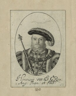 King Henry VIII, possibly by William Faithorne, probably 17th century - NPG D24165 - © National Portrait Gallery, London