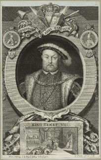 King Henry VIII, by George Vertue, after  Hans Holbein the Younger - NPG D24930