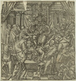 'The pope suppressed by King Henry VIII', after Unknown artist - NPG D24931