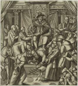 King Henry VIII, Thomas Cranmer, Thomas Cromwell, John Fisher, Pope Clement VII, after Unknown artist - NPG D24932