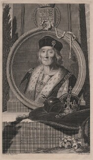 King Henry VII, by Pieter Stevens van Gunst, after  Adriaen van der Werff - NPG D31775