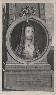 Elizabeth of York, by Pieter Stevens van Gunst, after  Adriaen van der Werff - NPG D31776
