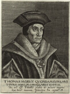 Sir Thomas More, by Magdalena de Passe, or by  Willem de Passe - NPG D24948