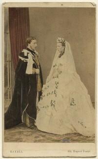 King Edward VII; Queen Alexandra, by John Jabez Edwin Mayall - NPG Ax46733