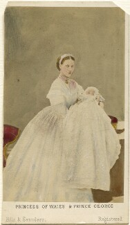 Queen Alexandra; King George V, by Hills & Saunders, July 1865 - NPG Ax46743 - © National Portrait Gallery, London