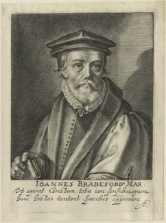 John Bradford, by Magdalena de Passe, and by  Willem de Passe - NPG D24955