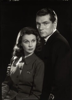 Vivien Leigh; Laurence Kerr Olivier, Baron Olivier, by Paul Tanqueray - NPG x180373