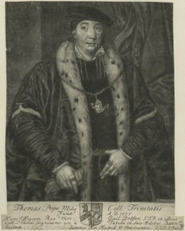 Sir Thomas Pope, by John Faber Sr - NPG D24969